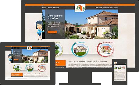site internet responsive Maisons Boutillet